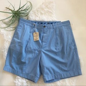 "Brooks Brothers Pleated Short 7"" inseam W36 Blue"